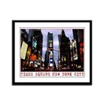 New York Souvenir Times Square Framed Panel Print