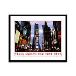 New York Souvenir Times Square Framed Panel Print