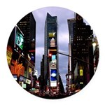 New York Souvenir Ny City Round Car Magnet