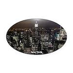 New York Souvenir Ny City Oval Car Magnet