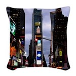 New York Souvenir Times Woven Throw Pillow