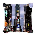 New York Souvenir Times Woven Throw Pillow