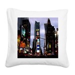 New York Souvenir Times Square Canvas Pillow
