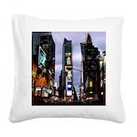New York Souvenir Times Square Canvas Pillow