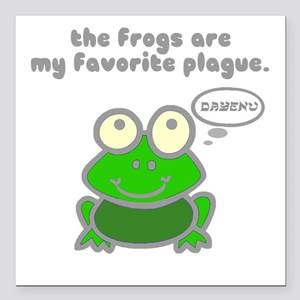 """Frog Passover Plague Square Car Magnet 3"""" x 3"""""""