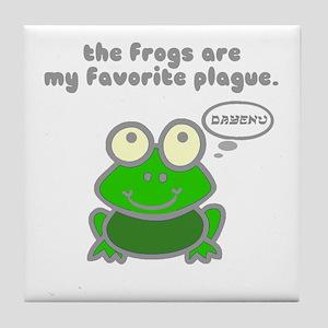 Frog Passover Plague Tile Coaster