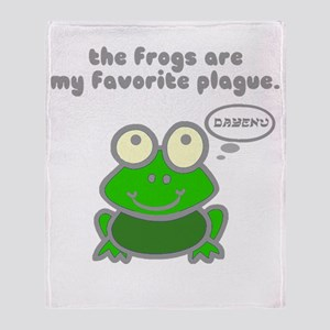 Frog Passover Plague Throw Blanket