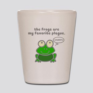 Frog Passover Plague Shot Glass