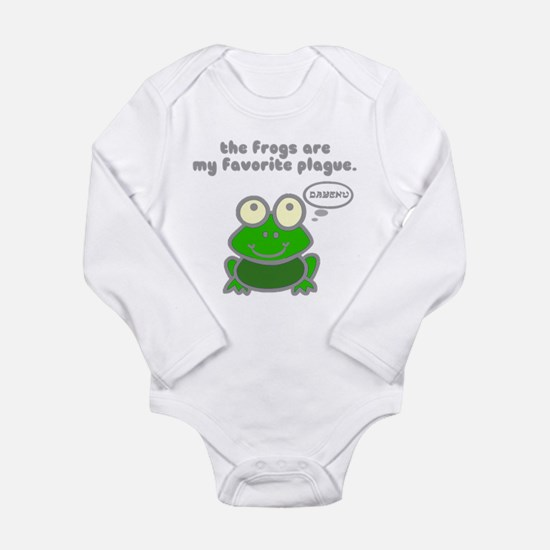 Frog Passover Plague Long Sleeve Infant Bodysuit