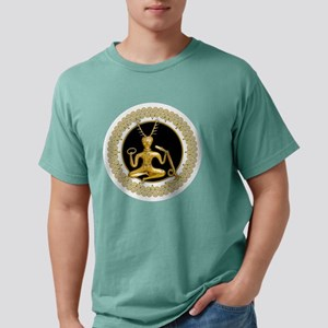 Gold Cernunnos With Snake in Circle T-Shirt