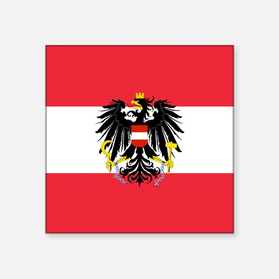 Austrian Coat of Arms Flag Sticker