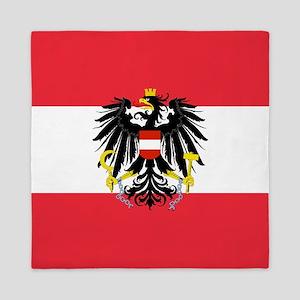 Austrian Coat of Arms Flag Queen Duvet