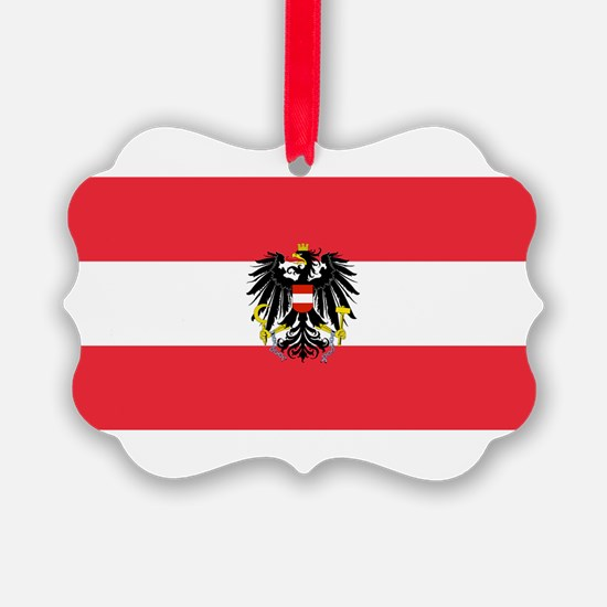 Austrian Coat of Arms Flag Ornament