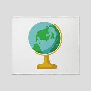 Globe World Throw Blanket