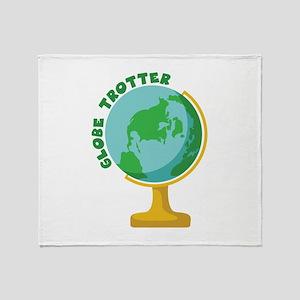 Globe Trotter Throw Blanket