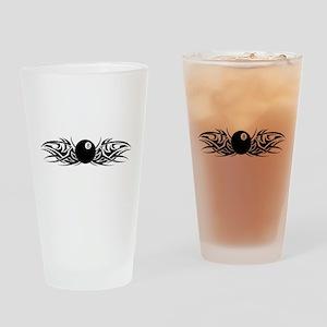 Tribal 8 Ball Drinking Glass