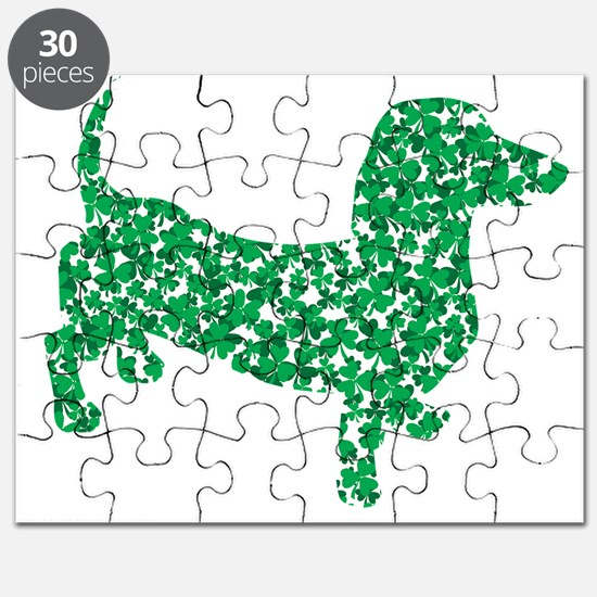 Doxie Made up of Shamrocks Puzzle