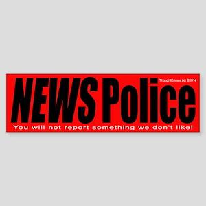 News Police Sticker (Bumper)