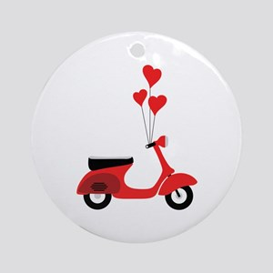 Italian Scooter Ornament (Round)