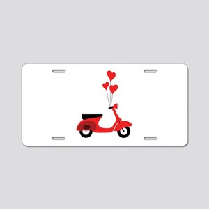 Italian Scooter Aluminum License Plate