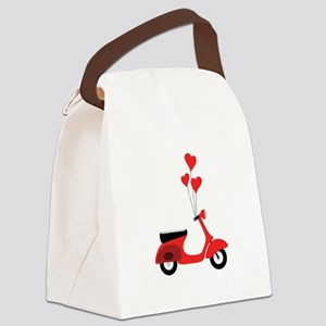 Italian Scooter Canvas Lunch Bag