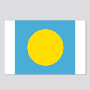 Flag of Palau Postcards (Package of 8)