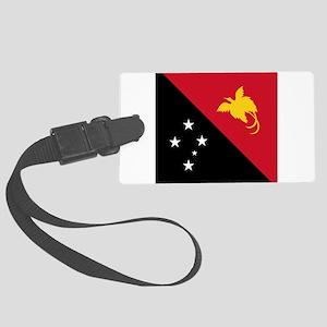 Flag of Papua New Guinea Large Luggage Tag