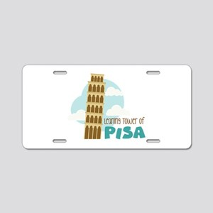 Leaning Tower Of Pisa Aluminum License Plate