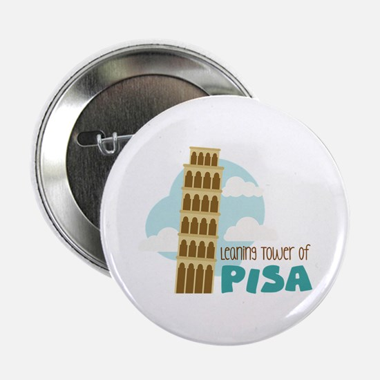 "Leaning Tower Of Pisa 2.25"" Button"