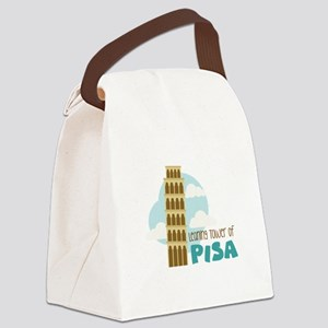 Leaning Tower Of Pisa Canvas Lunch Bag
