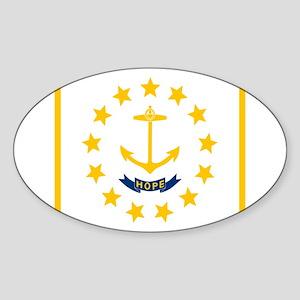 Flag of Rhode Island Sticker