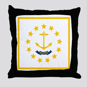 Flag of Rhode Island Throw Pillow