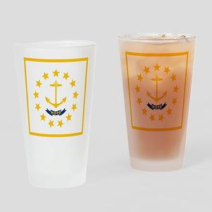 Flag of Rhode Island Drinking Glass