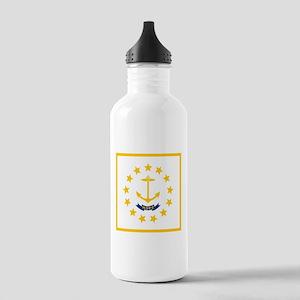 Flag of Rhode Island Sports Water Bottle