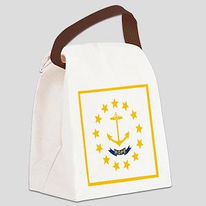 Flag of Rhode Island Canvas Lunch Bag