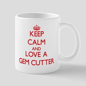 Keep Calm and Love a Gem Cutter Mugs