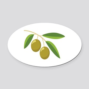 Olive Branch Oval Car Magnet