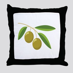 Olive Branch Throw Pillow
