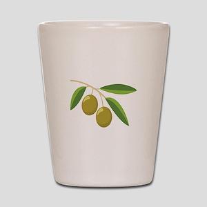Olive Branch Shot Glass
