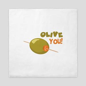Olive You! Queen Duvet