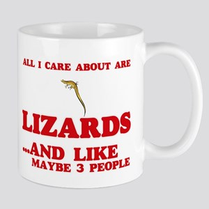 All I care about are Lizards Mugs