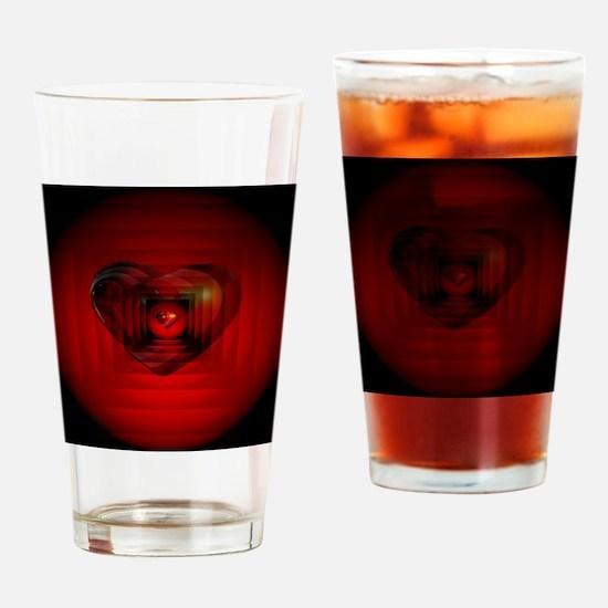 Heart 027 Drinking Glass