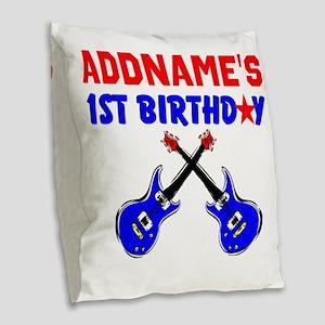 1 YR OLD ROCKER Burlap Throw Pillow