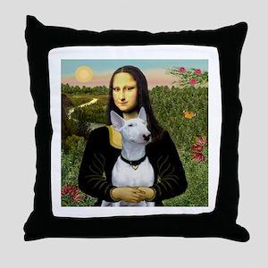 Mona's Bull Terrier Throw Pillow