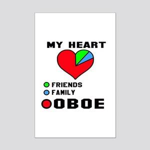 My Heart Friends Family and Oboe Mini Poster Print
