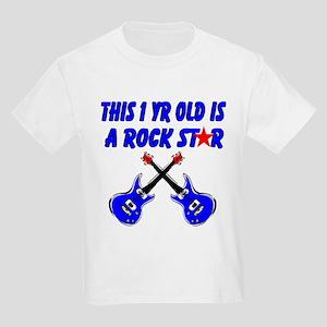 1 YR OLD ROCK STAR Kids Light T-Shirt