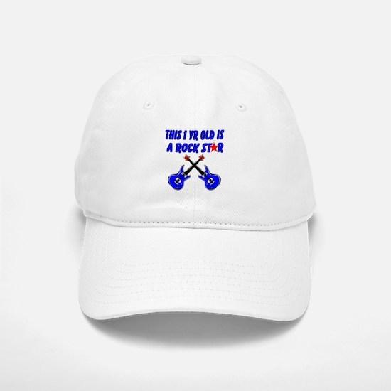 1 YR OLD ROCK STAR Baseball Baseball Cap