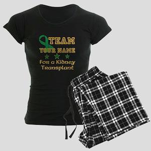 Personalize team Kidney Women's Dark Pajamas