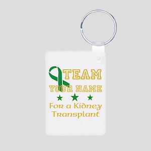 Personalize team Kidney Aluminum Photo Keychain