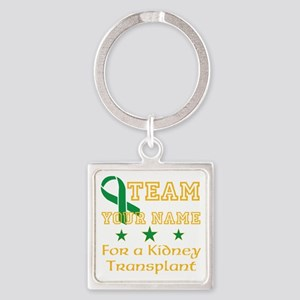 Personalize team Kidney Square Keychain